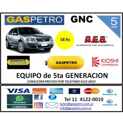 GNC - Equipo de 5ta generación con cilindro de 65 litros