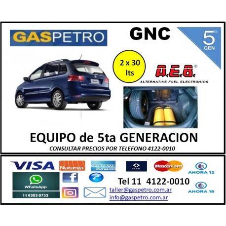GNC - Equipo de 5ta generación para Suran con 2 cilindros de 30 litros
