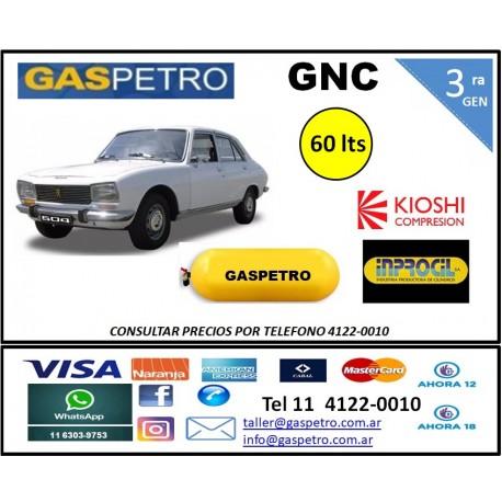 GNC - Equipo de 3ra generación con cilindro de 60 litros