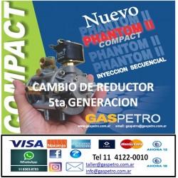Reductor de presión de 5ta generacion PHANTOM II (instalado) CONSULTAR PRECIO