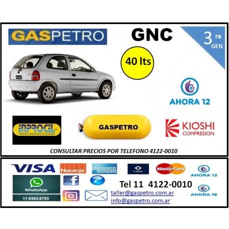 Equipo GNC de 3ra generación con 1 cilindro de 40 litros CONSULTAR PRECIO